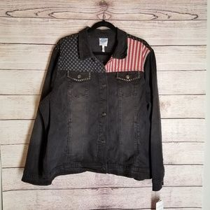 DG by Diane Gilman Womens American jacket size 2X